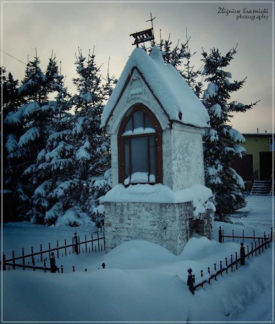 Kapliczki warmińskie: Barczewo, droga do Ruszajn