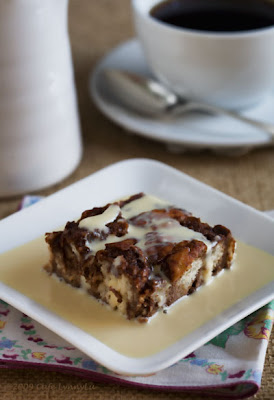 Cafe Lynnylu: Four Star Chocolate Bread Pudding with Creme Anglaise