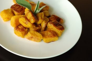 Another lovely fall dish, a Pan-fried Pumpkin Gnocchi with Brown ...