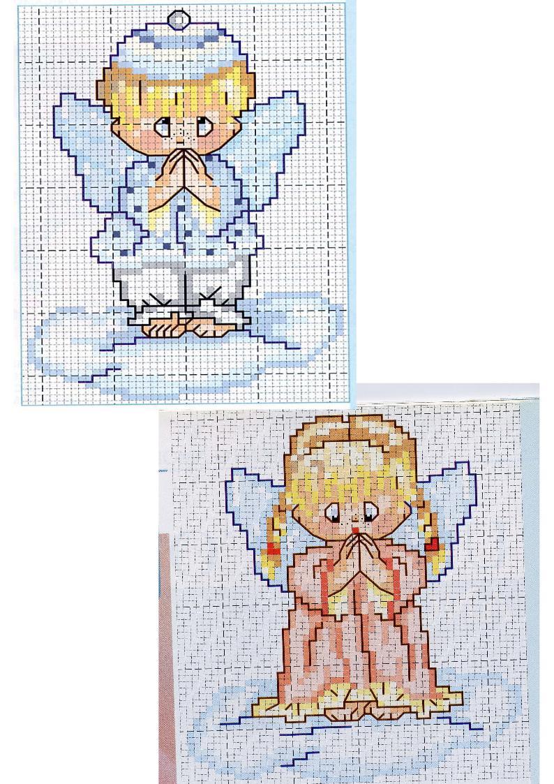 Schemi angioletti punto car interior design for Angioletti punto croce per bambini