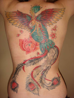 Sexy Lady Tattoo-Best Phoenix Tattoo On Bck Body