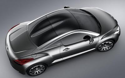 Foto feita de cima mostra a elegância do Conceito Peugeot 308 RC Z