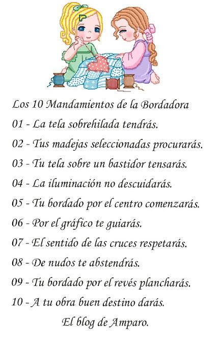 los 10 mandamientos de una bordadora