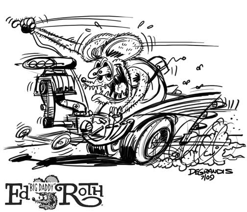 Drag Fink Bel Air Fink Rat Fink Coloring Pages