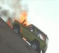 quema coche dunas