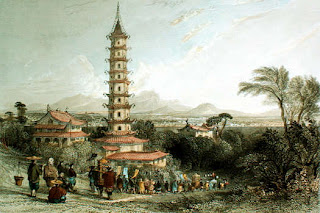 The Porcelain Tower of Nanjing (Bao'ensi = Temple of Gratitude) China