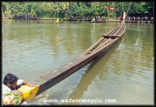 snake boat which could carry over a hunderd rowers
