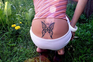Butterfly Tattoos With Image Female Tattoo With Butterfly Lower Back Tattoo 3