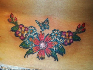 Sexy Girls With Lower Back Tattoo Designs Especially Lower Back Flower Tattoo Picture 7
