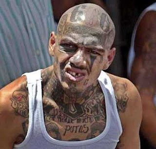 Gang Tattoos Especially Face Gangsta Tattoo Designs With Image Men With Face Gang Prison Tattoo Picture 4