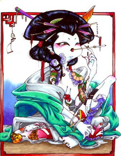 Japanese Geisha Tattoo Design Picture 5