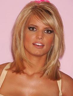 Jessica Simpson Hairstyles, Celebrity Hairstyles, Blonde Hair, Medium Hair, Straight Hair, Wavy Hair