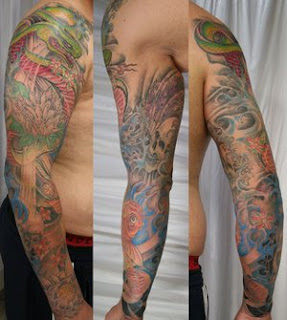 Beautiful Art of Japanese Tattoos Especially Sleeve Tattoo Designs With Image Japanese Sleeve Tattoo Picture 2
