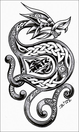 Celtic Dragon Tattoo Design Picture 1