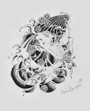 Japanese Koi Fish Tattoo Design Picture 4