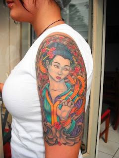 Japanese Tattoos Especially Geisha Tattoo Designs With Image Shoulder Japanese Geisha Tattoo For Female Tattoos Gallery Picture 6