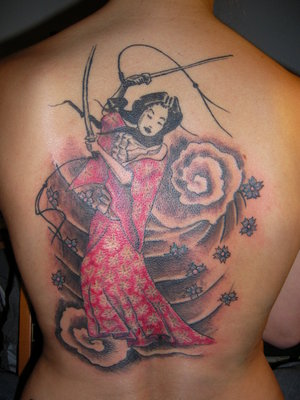 Feminine Japanese Tattoos - Japanese Cherryblossom Tattoo