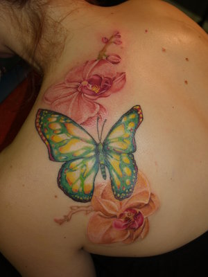 Tattoo Designs With Image Upper Back Butterflies Tattoos For Women