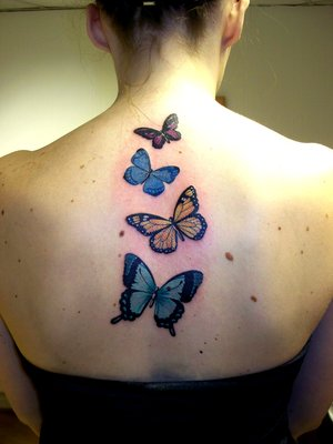 Butterflies Tattoo Designs With Image Upper Back Butterflies Tattoos For