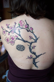 Upper Back Japanese Tattoos With Image Cherry Blossom Tattoo Designs Especially Upper Back Japanese Cherry Blossom Tattoos For Female Tattoo 5