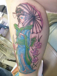 Cool Calf Tattoo Ideas With Japanese Tattoos Especially Geisha Tattoo Designs With Picture Calf Japanese Geisha Tattoo Gallery 1