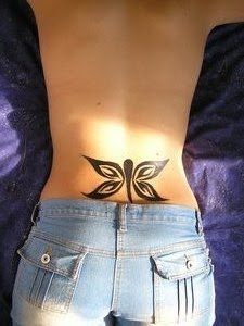 Sexy lower back tattoo designs for women