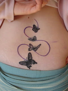 Picture Sexy Girls Tattoo With Lower Back Butterflies Tattoo Designs 2