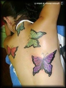 Picture Sexy Girls Tattoo With Back Piece Butterflies Tattoo Designs 3