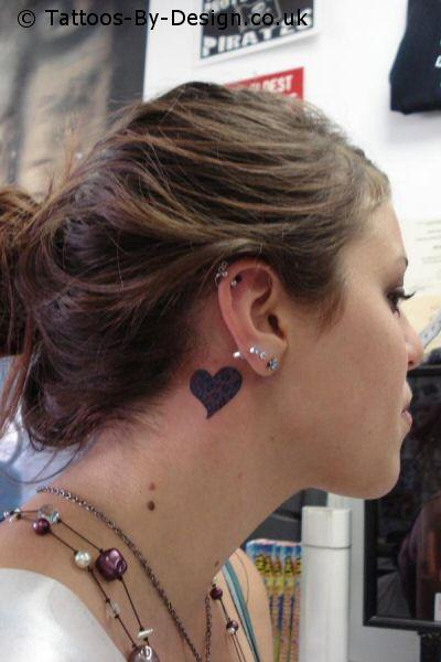 music heart tattoo. heart tattoo designs. simple