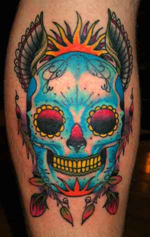 sugar skull tattoo. Skull Tattoos Arm. Arm Skull