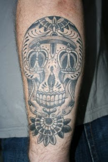 Tribal Skull Tattoo Design