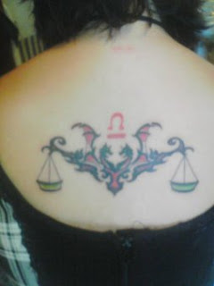 Female Tattoos With Libra Tattoo Design Picture 4