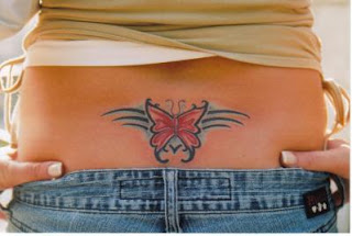 Lower Back Tattoos With Image Lower Back Butterfly Tattoo Designs With Butterfly Tribal Tattoo Picture 4