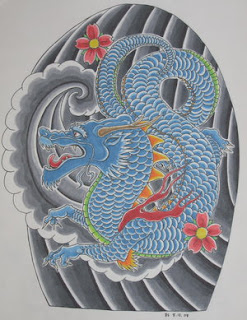 Traditional Japanese Dragon Tattoo Design 4