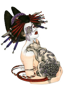Beautiful Japanese Geisha Tattoos Design 1