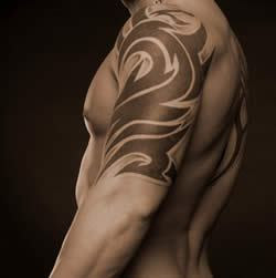 Tribal Shoulder Tattoo Design