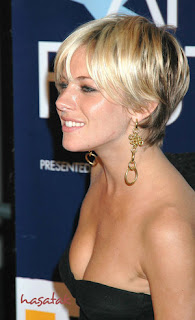 Side View Of Sienna Miller Short Hair