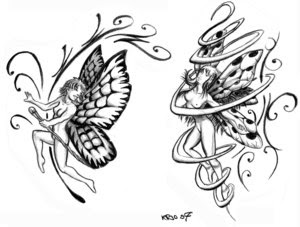 Fairy Tattoo Design 2