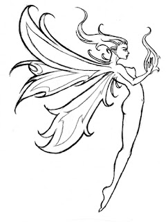 Fairy Tattoo Design 4