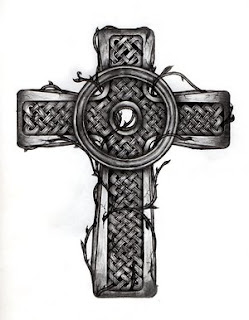 Celtic Cross Tattoo Design 1
