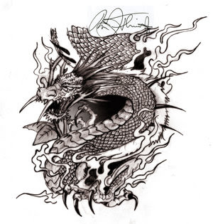 Japanese Dragon Tattoo Design 2