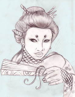 Japanese Geisha Tattoo Design 2