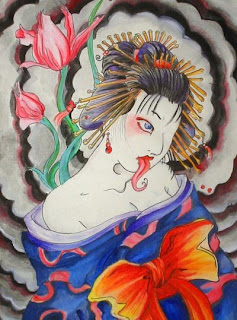 Japanese Geisha Tattoo Design 7