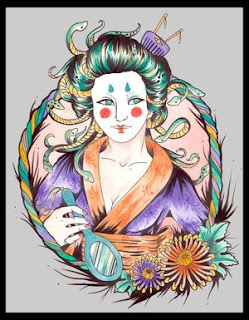 Japanese Geisha Tattoo Design 3