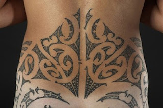 Lower Back Tribal Maori Tattoo