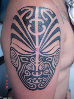 Shoulder Tribal Maori Tattoo