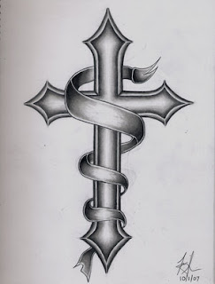 Beautiful Art of Tattoos Design With Image Cross Tattoo Design Picture 3