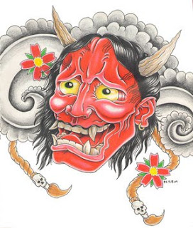 Japanese Tattoo With Image Japanese Mask Tattoos Especially Japanese Hannya Mask Tattoo Design 8