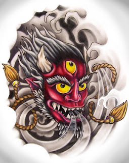 Japanese Tattoo With Image Japanese Mask Tattoos Especially Japanese Hannya Mask Tattoo Design 5