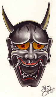 Japanese Tattoo With Image Japanese Mask Tattoos Especially Japanese Hannya Mask Tattoo Design 1